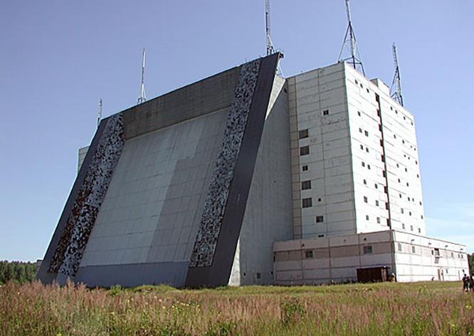 Российская РЛС предупреждения о ракетном нападении «Волга» под Ганцевичами в Белоруссии.