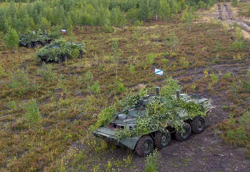 В рамках двухстороннего учения Балтийского флота и 6-й общевойсковой армии Западного военного округа в Калининградской области прошли манёвры с группировкой войск армейского корпуса Балтфлота.