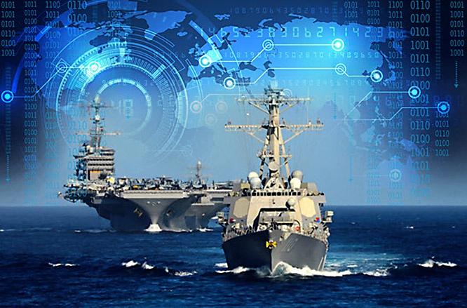 Военно-морские силы США используют для обмена данными единую распределённую боевую информационную систему JTIDS.