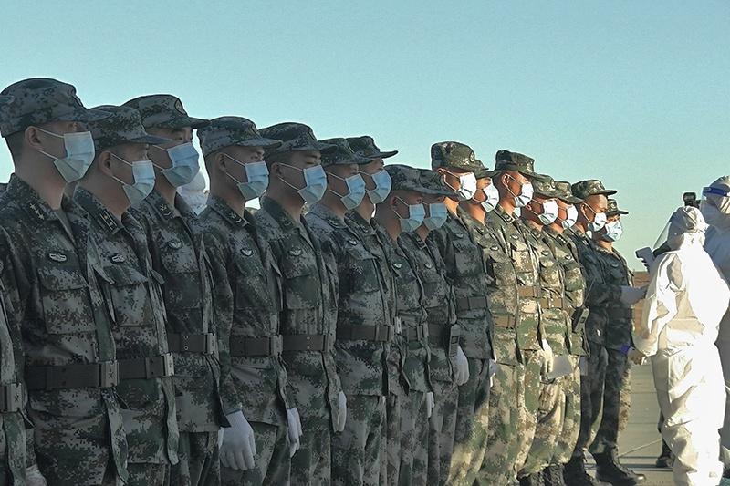Все военнослужащие из дружественных армий в обязательном порядке сдают тест на наличие коронавирусной инфекции.