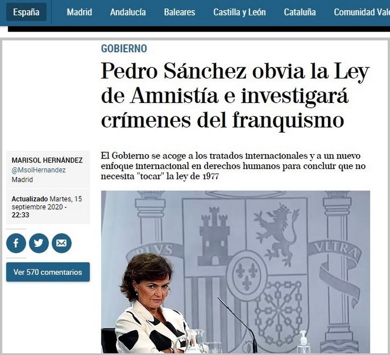 Как отмечает испанская газета El Mundo со ссылкой на источники в правительстве, теперь жалобы жертв режима Франко могут быть рассмотрены и в Испании.