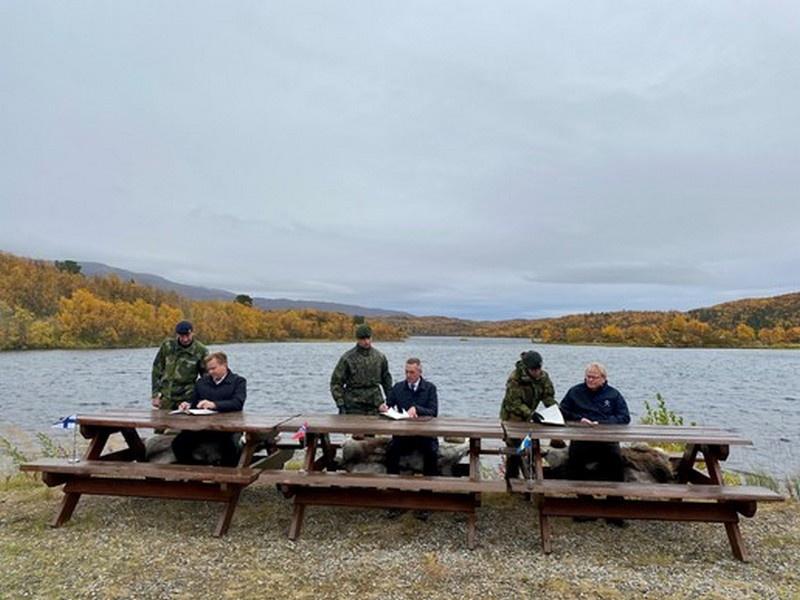Министры обороны Норвегии, Финляндии и Швеции подписали трехстороннее заявление о намерениях, 23 сентября 2020 г.