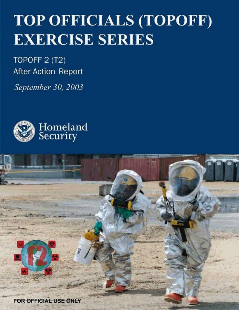 В мае 2003 года в США состоялись Национальные учения по противодействию терроризму TOPOFF 2.