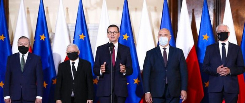 Премьер-министр Матеуш Моравецкий представил кандидатов в новые министры 30 сентября 2020 г.