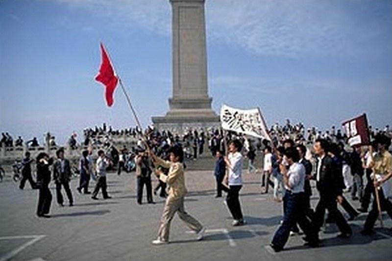 Одна из первых попыток цветной революции. Площадь Тяньаньмэнь в Пекине. Китай, 1989 год.
