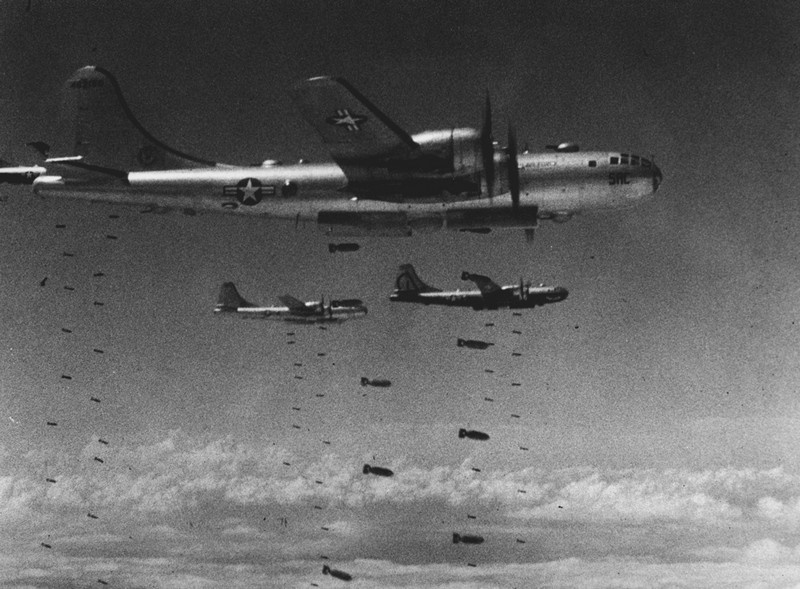 Последние случаи относительно массированных стратегических бомбардировок «коврового типа» имели в место в период Корейской войны.