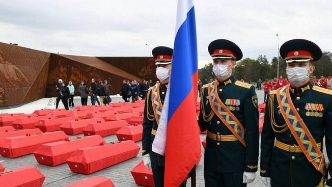 Они погибли под Ржевом: найдены и захоронены останки 704 погибших бойцов