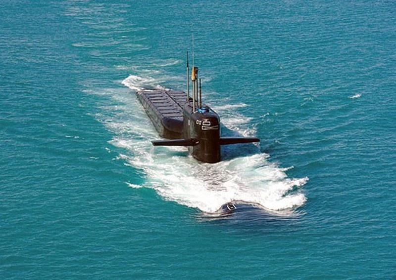 Атомный ракетный подводный крейсер стратегического назначения (РПКСН) «Рязань».