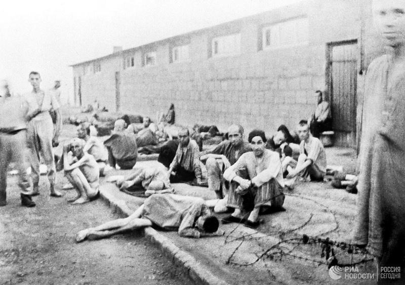 Узники немецкого концентрационного лагеря Маутхаузен.