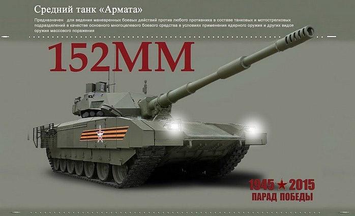 Вариант танка Т-14 со 152-мм пушкой наверняка будет пущен в серию.