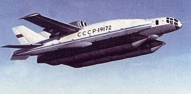 Первый экраноплан самолёт-амфибия ВВА-14.