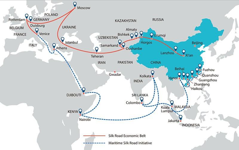Россия активно участвует всотрудничестве врамках предложенной Китаем инициативы «Один пояс- один путь».