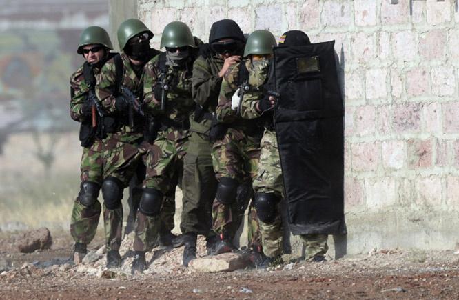 Большинство солдат армейского спецназа имеют боевой опыт и участвовали в военных конфликтах в Нагорном Карабахе.