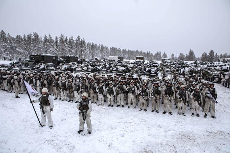 Учения «Северный ветер-19» проходили на севере Швеции с участием стран НАТО и стран-партнёров в условиях экстремального холода.
