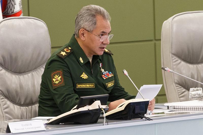 Министр обороны Российской Федерации генерал армии Сергей Шойгу на селекторном совещании3 ноября 2020 года.