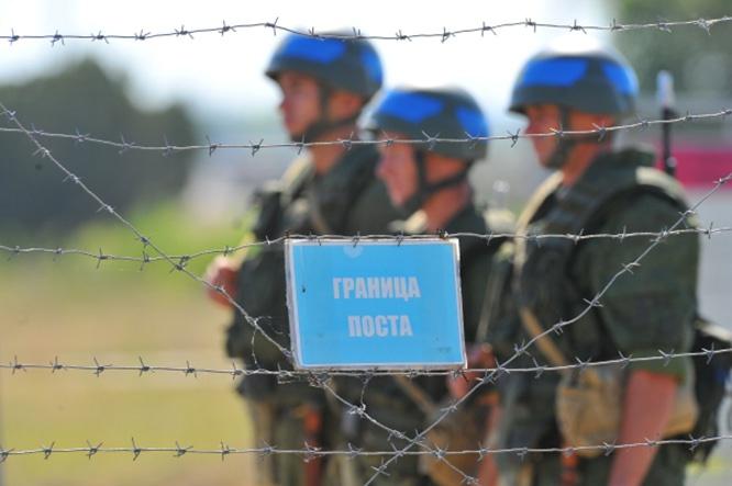 Российские солдаты Оперативной группы российских войск в Приднестровском регионе Республики Молдова.
