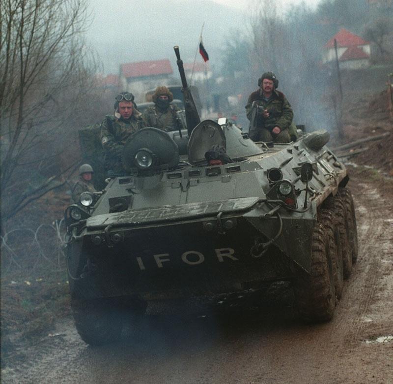 Российские миротворцы в бывшей Югославии, 1995 год.