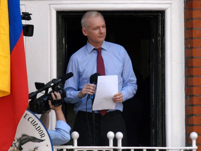 Глава WikiLeaks Джулиан Ассанж.