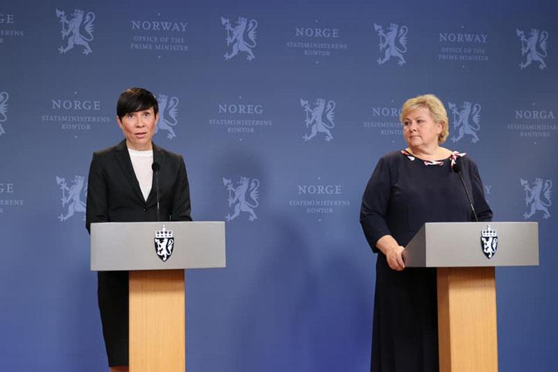 Норвегия в лице министра иностранных дел Ине Мари Эриксен Сёрейде и премьер-министра Эрны Сульберг обвинили русских хакеров в кибератаке на норвежский парламент.