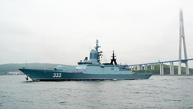 Корвет «Герой Российской Федерации Алдар Цыденжапов» вышел на очередной этап ходовых испытаний в акваторию Японского моря.