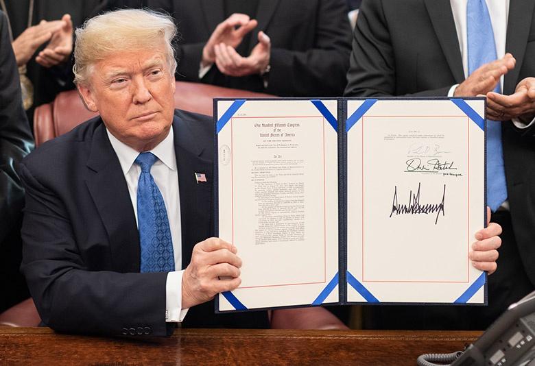 23 января 2017 года президент Дональд Трамп принял меры по окончательному выходу США из торгового соглашения Транстихоокеанского партнёрства.