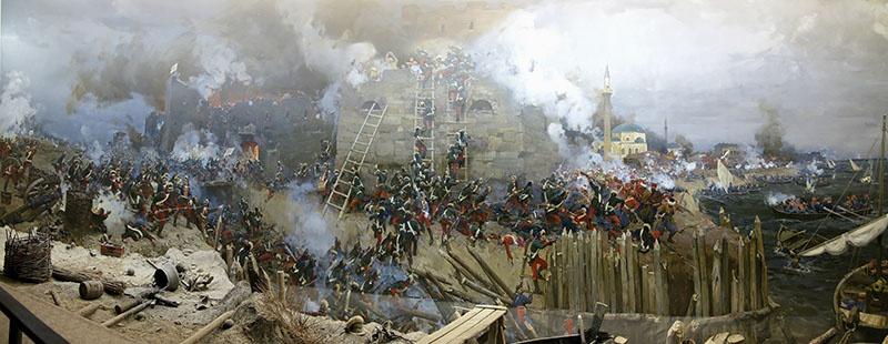 Диорама «Штурм крепости Измаил русскими войсками в 1790 году».