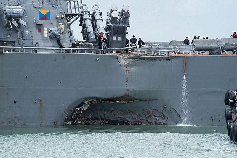 21 августа 2017 года военный корабль ВМС США USS John S. McCain столкнулся с танкером Alnic MC.