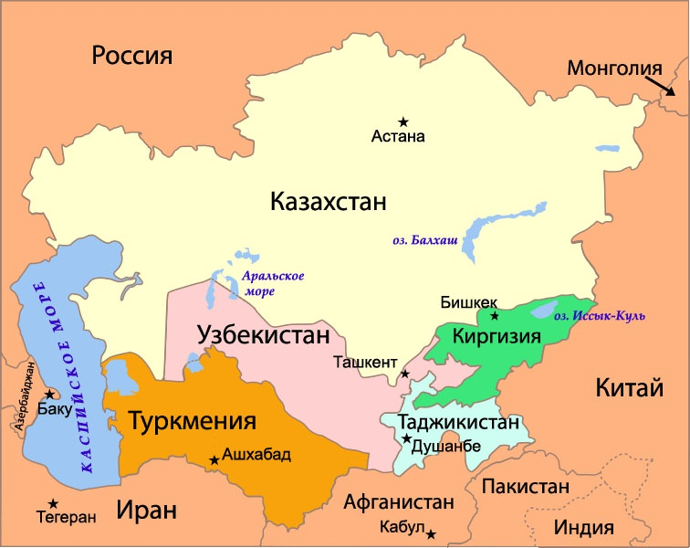 Бывшие республики СССР замкнуты на Россию и Китай, на их совместные трансевразийские проекты.