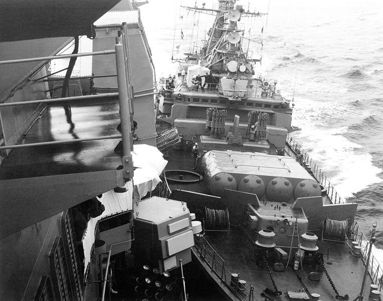 Навал сторожевого корабля «Беззаветный» на USS Yorktown.