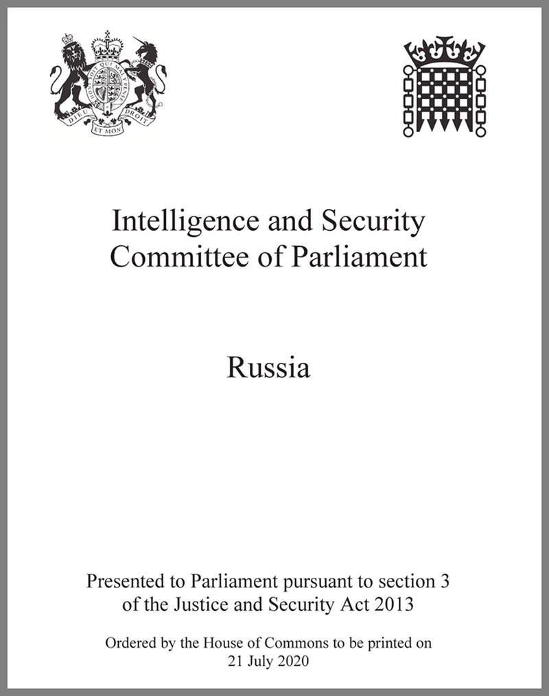 «Отчёт по России» Комитета по разведке и безопасности британского парламента.