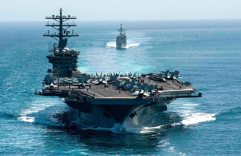 Трамп отдал приказ о возвращении в Персидский залив ударного авианосца USS Nimitz.
