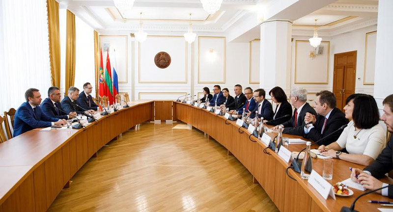 Встреча генерального секретаря ОБСЕ Томаса Гремингера с приднестровским лидером Вадимом Красносельским, Тирасполь, 19 сентября 2019 года.