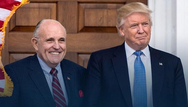 Трамп с его политически верным Санчо Пансой - Рудольфом Джулиани продолжают искать правду в американских судах.