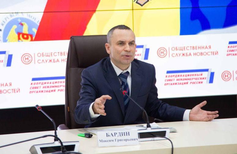 Член Высшего совета Общероссийского движения «Сильная Россия» политолог Максим Бардин.