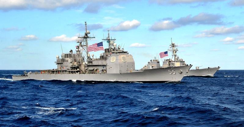 В Тайваньском проливе регулярно наблюдают военные корабли США.