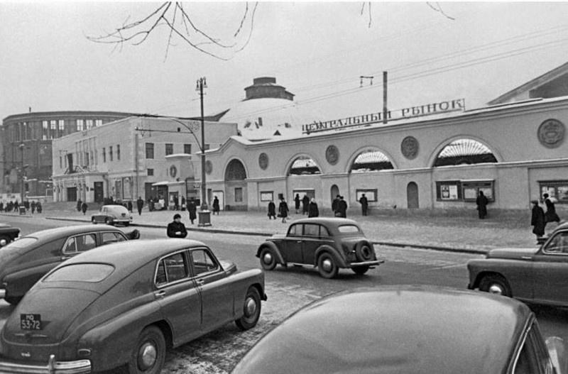 Центральный рынок на Цветном бульваре,1954 год.