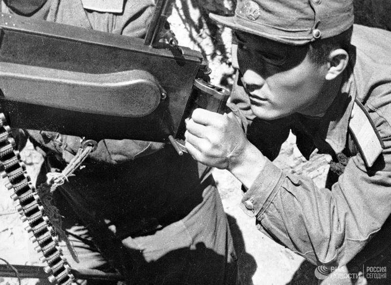 Корейская война 1950-1953 гг. Стрелок-охотник за вражескими самолётами.