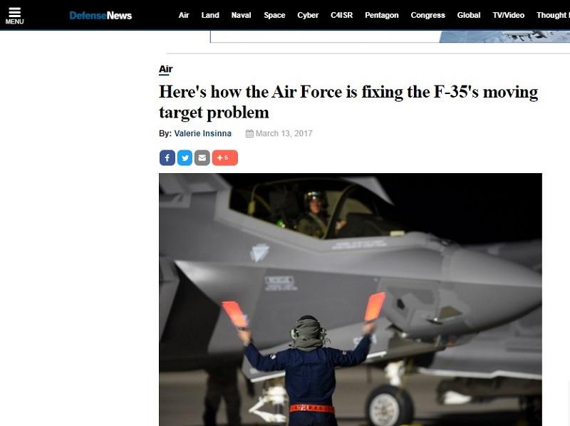 Статья Валери Инсинны в «Defense News».