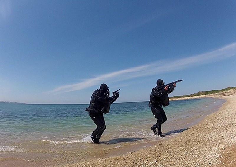 На Черноморском флоте прошла тренировка противодиверсионных сил и средств.