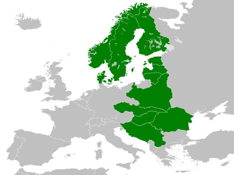 Концепция нацистов зиждется на идее «Междуморья» (Intermarium) - создания географической и идеологической территории между Адриатикой, Чёрным и Балтийским морями.