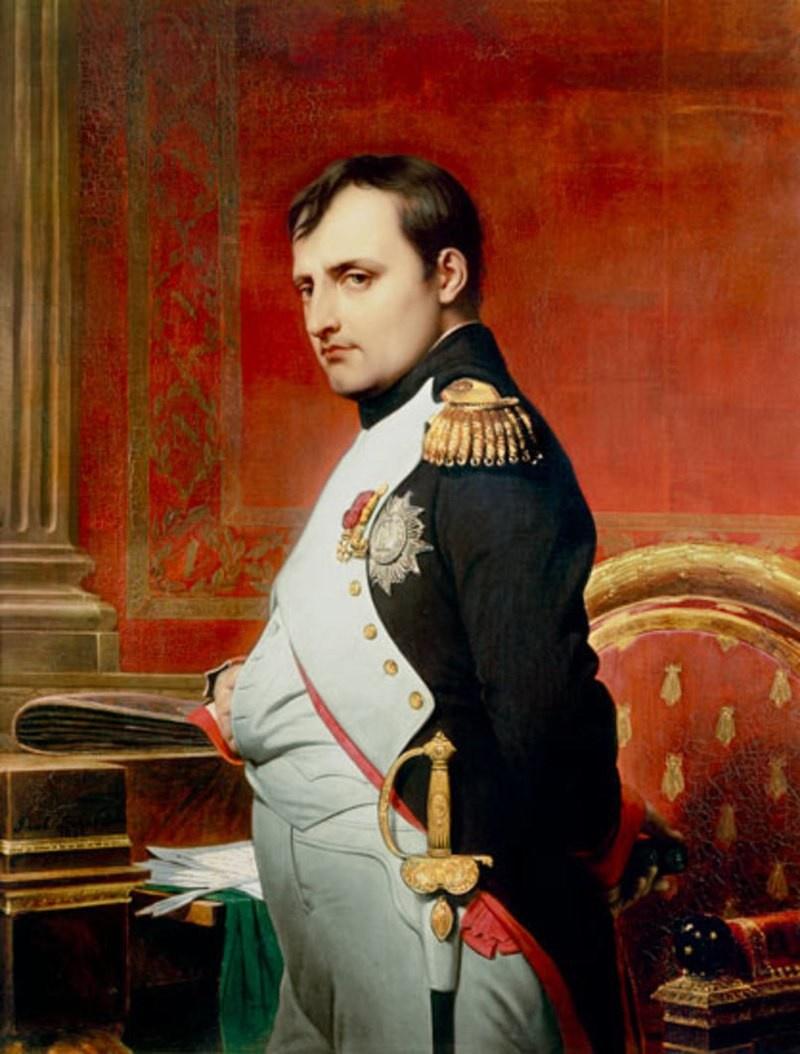 Наполеон I Бонапарт. Портрет кисти Поля Делароша.
