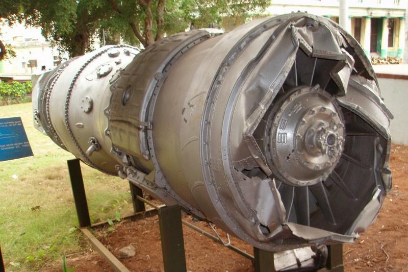 Двигатель самолёта U-2, сбитого в «чёрную субботу» на Кубе. Музей Революции в Гаване