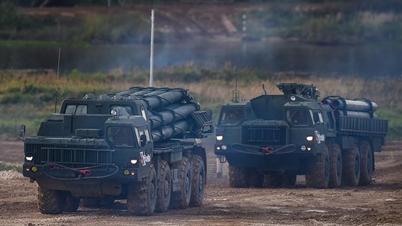 В Астраханской области (ЮВО) полностью завершено перевооружение на РСЗО «Торнадо-С» (модернизированная РСЗО 9К58 «Смерч»).