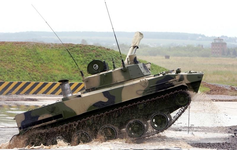 Высокая проходимость новых боевых машин.
