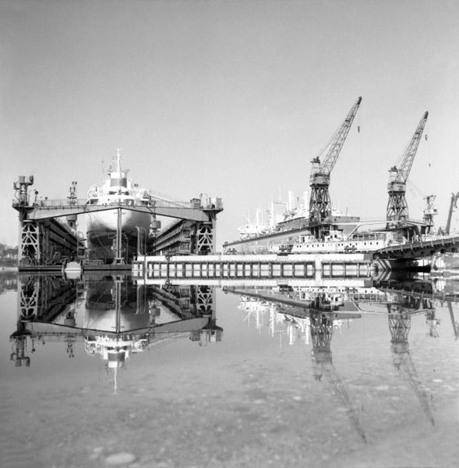 Литовская ССР. Судостроительный завод «Балтия» в Клайпеде. 1972 год.