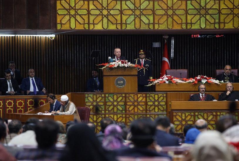 Во время визита Эрдогана в Пакистан в феврале 2020 года турецкий президент шесть раз упомянул Кашмир в своей 25-минутной речи на заседании пакистанского парламента.
