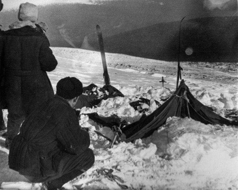 Найденная палатка группы Дятлова.