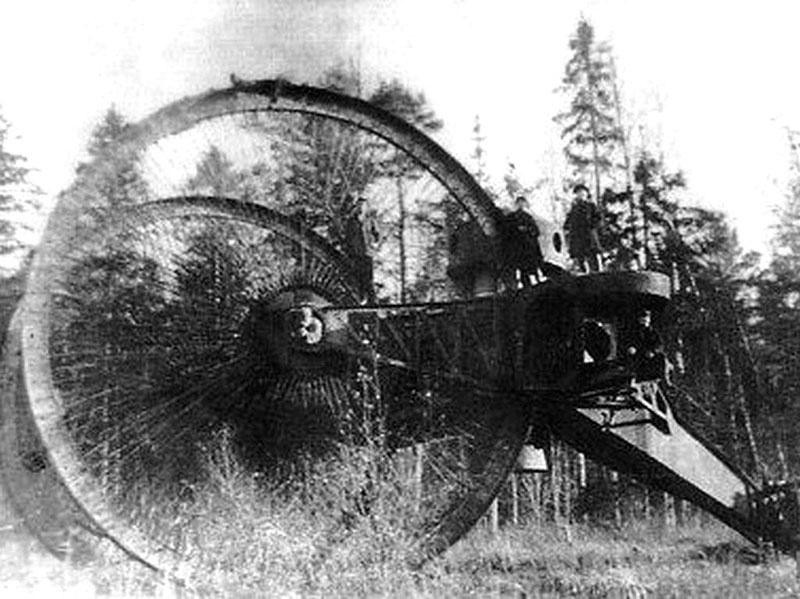Российская армия в 1915 году сочла проект Царь-танка Николая Лебеденко бесперспективным.