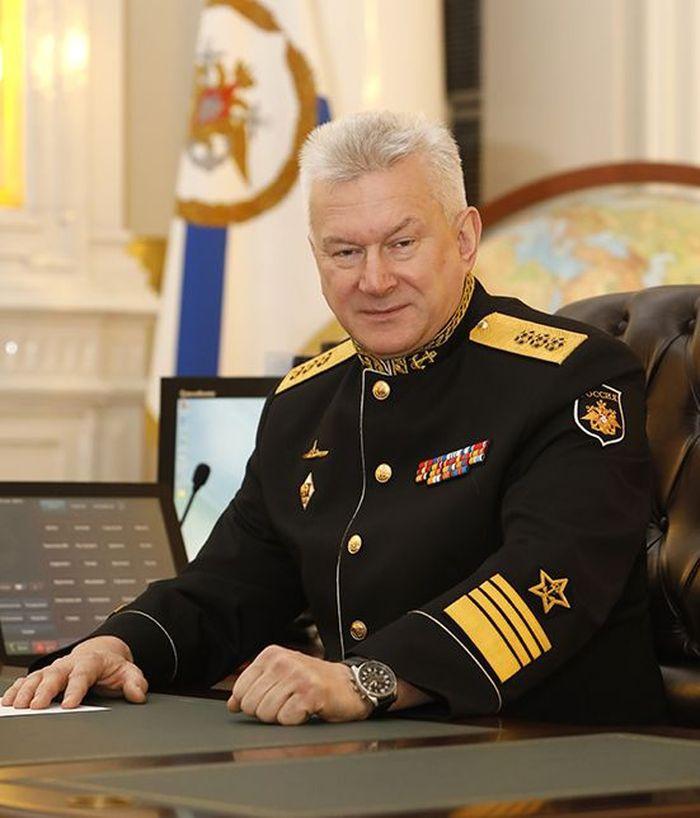 Главнокомандующий ВМФ адмирал Н.А. Евменов.
