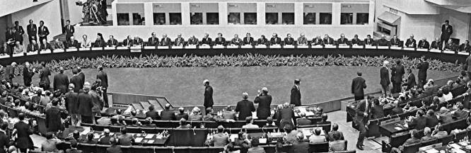 В столице Финляндии Хельсинки 1 августа 1975 года был подписан Заключительный акт Совещания по безопасности и сотрудничеству в Европе.